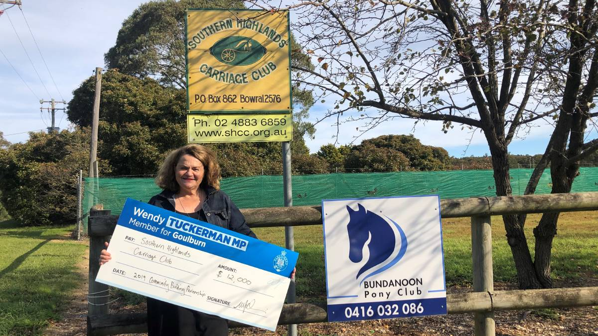 Carriage Club receives club house funds
