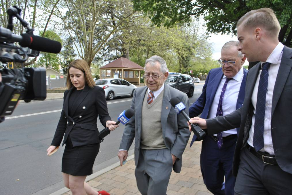Anthony William Peter Caruana remained silent when reporters asked him questions outside of Moss Vale Local Court. Photo: Emily Bennett